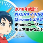 【統計】PC・SPのブラウザ利用チェック。日本のiPhoneユーザーのシェア率も!