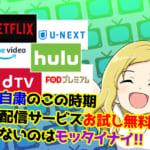 【2020年5月】無料で楽しめる!オススメ動画配信サービス厳選「VOD」6選!